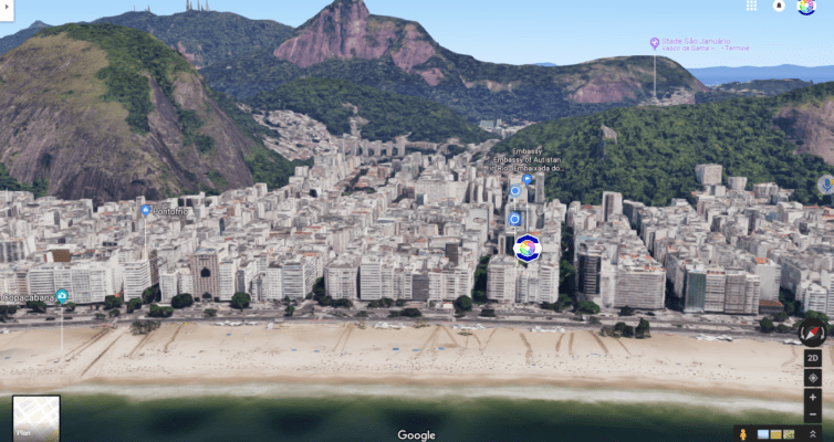 The Embassy of Autistan in Copacabana (with the Corcovado)