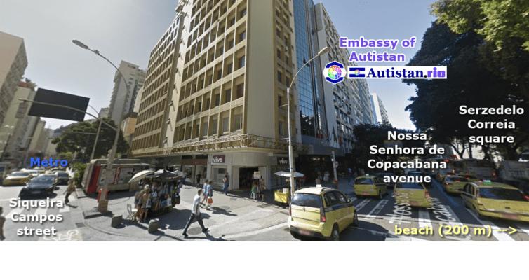 The Headquarters of the Autistan Diplomatic Organization in Rio de Janeiro